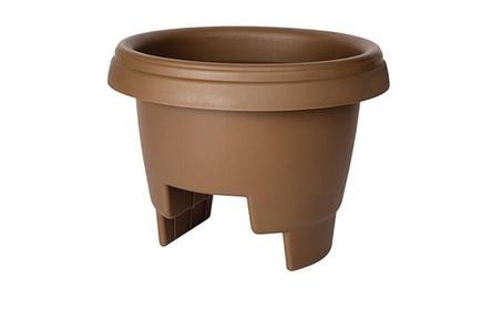 Fiskars 477125-1001 12 in. Chocolate Deck Rail Planter c7da7a21-b5d9-4528-9624-07237794cf0b
