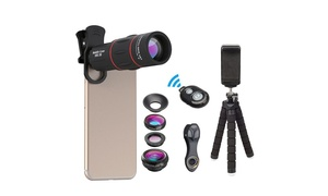Apexel Phone Photography Kit with Lenses and Tripod (14-Piece)