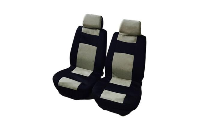 Wondrous 9Pcs General Seasons 5 Seats Black Yellow Car Seat Covers Lamtechconsult Wood Chair Design Ideas Lamtechconsultcom