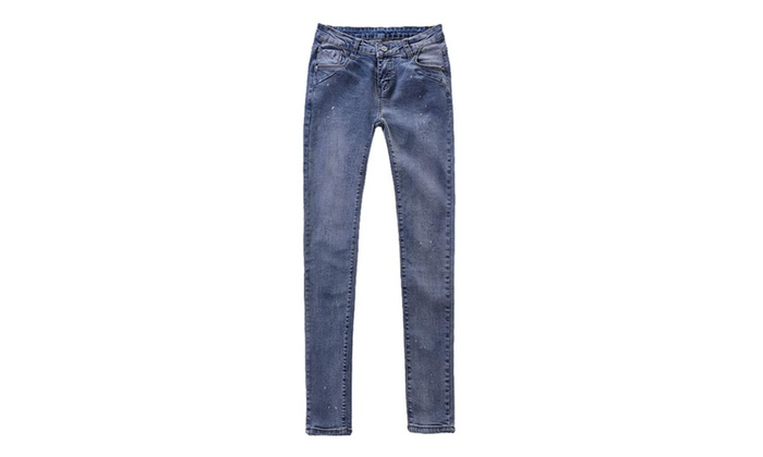 Women's Slim Fit ButtonsUp Mid-Rise Skinny Fashion Jeans