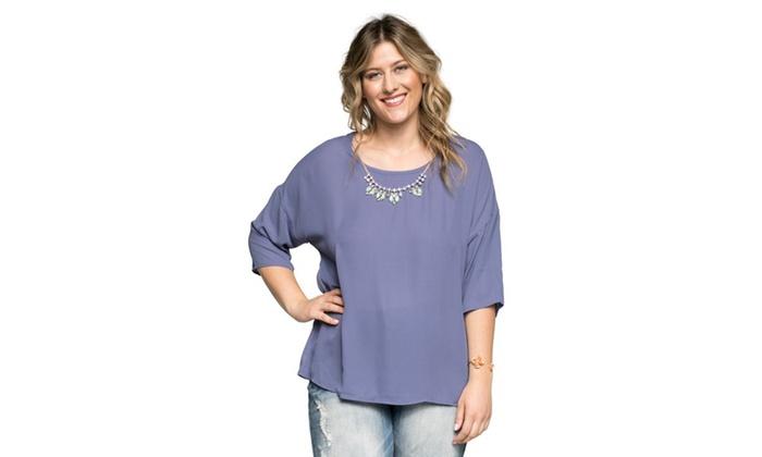 9138cf4e590 ... Xehar Women s Plus Size Casual Fancy Blouse Tunic Top