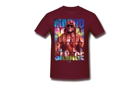 Wwe World Wrestling Macho Man Randy Savage T-shirt Burgundy 66f782ea-9c5b-48f6-8e10-6bdf40dd9aae