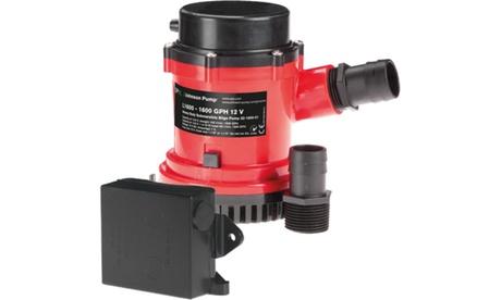 JOHNSON PUMPS 01674-002 HD Bilge Pump 1600 GPH w/Ult. Switch 24V photo