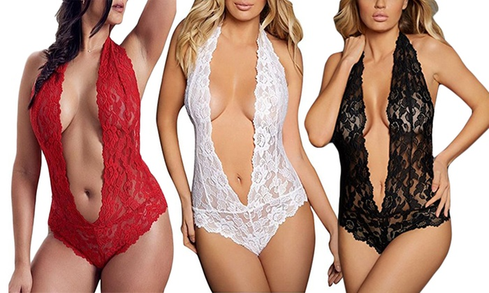 775ba937f Women Sexy Lingerie Red One Piece Teddy Bodysuit Lace Babydoll Valentine s  Gift