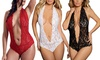 Women Sexy Lingerie Red One Piece Teddy Bodysuit Lace Babydoll Valentine's Gift