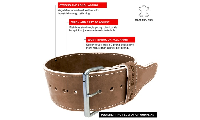 Steel Sweat Hyde Weight Lifting Belt - Vegetable Tanned Leather ...