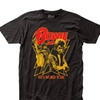 Rying Men's David Bowie Men's 1972 World Tour Slim Fit T-shirt Black