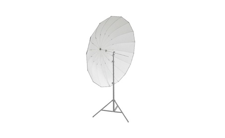185cm Silver/Black Reflective Umbrella 16 Fiberglass Rib 7mm Shaft e4b75df8-a1dc-4946-a8b4-665a70402700
