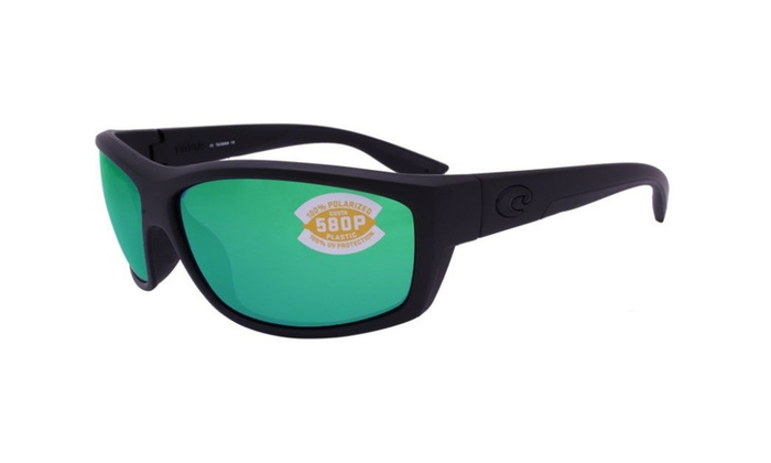 0757aff0a247 Costa Del Mar Saltbreak BK 01 OGMP Blackout / Green Mirror 580P | Groupon