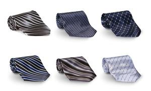 6 Pack Men's Casual Dressy Silk Neck Tie