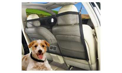 Shop Groupon Zone Tech Vehicle Car Travel Pet Back Seat Net Mesh Dog Barrier