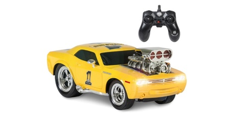 2.4 GHz Remote Control Drag Race Car RC Toy USB Charger- Yellow