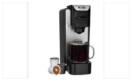 Mr. Coffee K-Cup Brewing System with Reusable Grounds Filter, Silver 1697296b-7c53-4d41-8f13-80b9cc7bd890