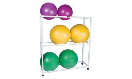 Inflatable Exercise Ball - Accessory - PVC Mobile Floor Rack, 3 Shelf