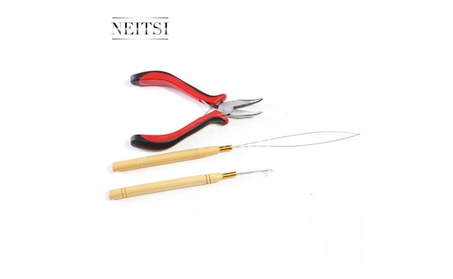 3 Pc Kit for Micro Ring Link Hair and Feather Extensions 10865e08-e302-4982-8a5f-bb7394489b59