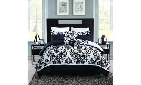 Daniella Flocked 8-Piece Comforter Set b3969bd5-77cb-48f1-850a-baa50e2e30d8