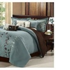 Chic Home 21CQ103-US Bliss Garden Embroidered Comforter Set - Sage