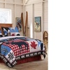 Mountain Trail Style King Size Quilt Set, 3-Piece