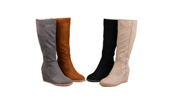 b5cd3098c4374 Journee Collection Womens Comfort Extra Wide Calf Parker Boot | Groupon