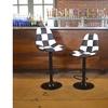 White Racing Automotive Bar Stool set 2pc