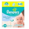 Pampers Baby Wipes Baby Fresh 9X Refill, 648 Count