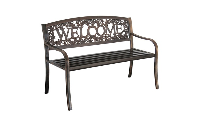 Pleasant Leigh Country Tx94101 Tx 94101 Metal Welcome Bench Evergreenethics Interior Chair Design Evergreenethicsorg