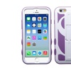 Insten Dollar Hybrid Rubber Case W/stand For Iphone 6purple/white