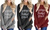 Leo Rosi Women's Grateful Thankful Blessed Top. Plus Sizes Available.