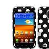 Insten Polka Dots Grey Tuff Hybrid Case For Samsung Epic Touch D710