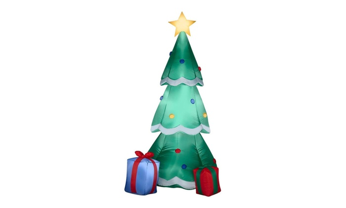 Gemmy Airblown Inflatable Christmas Tree Decorated With Ornaments - Gemmy Airblown Inflatable Christmas Tree Decorated With Ornaments