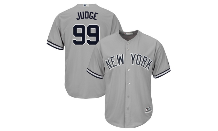 online retailer f7cb5 bde8d New York Yankees Men's Aaron Judge Gray Road Flex Base Replica Jersey