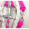 Hot Infinity Love Anchor Leather Cute Charm Bracelet