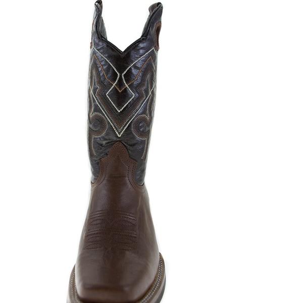 88ff7174439 Men's ReyWelt Mocha Square Toe Western Boot