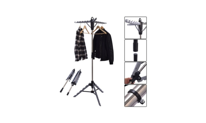 Clothes Hanger Drying Multifunctional Retractable Laundry Racks Tripod ...