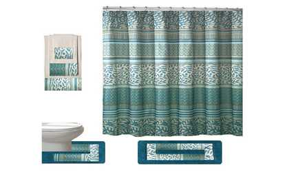 image placeholder image for martha 18 piece shower curtain set