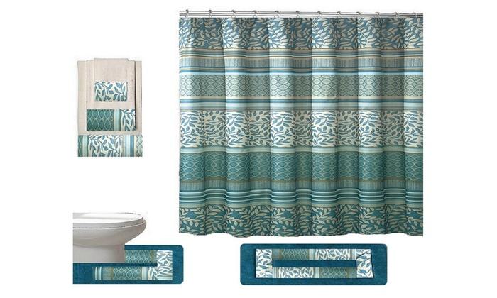 Martha 18 Piece Shower Curtain Set