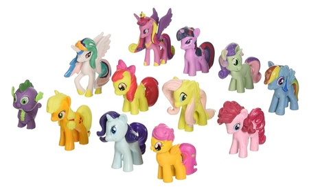My Little Pony Toys Figurines Playset Multi - 12 Piece Set 634da3e7-6a33-41b5-ada6-88be29dd8c86