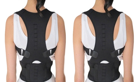 QPower Thoracic Back Brace Magnetic Posture Support Corrector for Back Neck aa8dae00-26d1-469b-83ab-5af43e8375d5