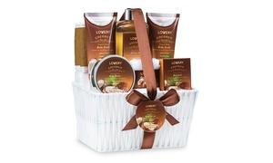 Milky Coconut Fragrance Spa Set Gift Basket (9-Piece)
