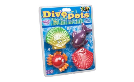 POOF-Slinky 0X8-28400 Ideal Dive Pets Sink and Find Pool Toys 4-Pack b5f434fa-1e36-4b4a-a4ce-36e504605042