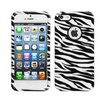 Insten Zebra Skin Case (with Decorative Rings) For Iphone Se/5/5s