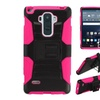 Insten Hard Hybrid Case W/holster For Lg G Stylo Black/hot Pink