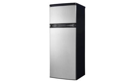 Danby 7.3 cu ft Black Top Mount Refrigerator with Stainless Steel Door photo