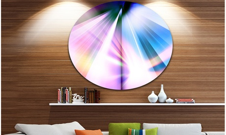 Rays of Speed Blue' Abstract Circle Metal Wall Art 1f949c13-6519-45d7-aae5-d070689bda5e