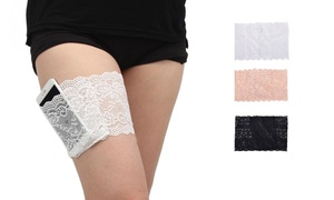 Lace Garter with Pocket