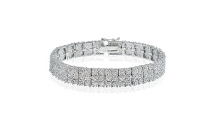 1.00 Carat Diamond Miracle Set 3-Row Tennis Bracelet