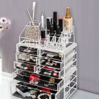 Acrylic Cosmetic Organizer Makeup Case Holder Drawers Jewelry Storage