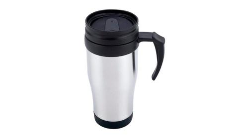 Mini Stainless Steel Travel Mug & Durable Plastic Handle af09b593-990e-42cd-85c1-d3c76fa220b6