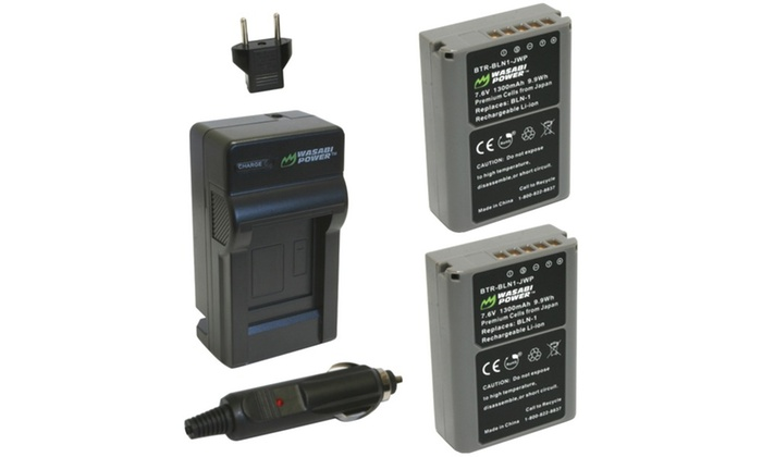Wasabi Power Olympus Battery 2-pack & Charger