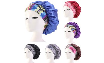 Women Satin Headscarf Sleeping Bonnet Hair Wrap Cap Hat Headband
